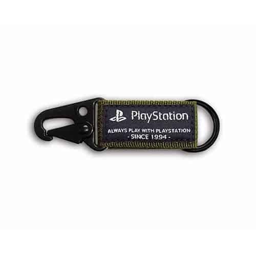 PlayStation 軍風掛勾鑰匙圈-軍綠色(OLP-WLA-04)
