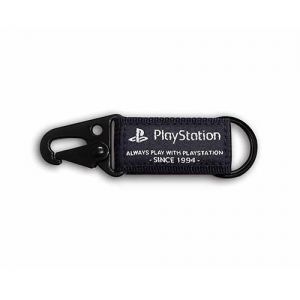 PlayStation 軍風掛勾鑰匙圈-黑色(OLP-WLA-05)